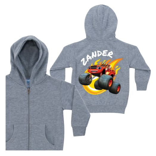 Blaze and the Monster Machines Fired Up Gray Zip-Up Hoodie