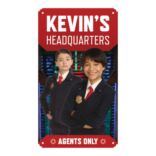 Odd Squad Headquarters Olive and Otto Tin Room Sign