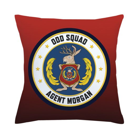Odd Squad Headquarters Seal Throw Pillow
