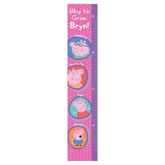 Peppa Pig Way to Grow Easy-Move Canvas Growth Chart