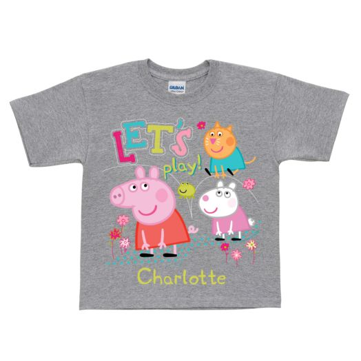 Peppa Pig Let's Play Gray T-Shirt