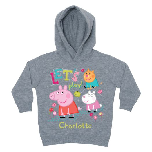 Peppa Pig Let's Play Gray Toddler Hoodie