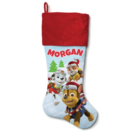 PAW Patrol Holiday Pups Red Cuff Stocking
