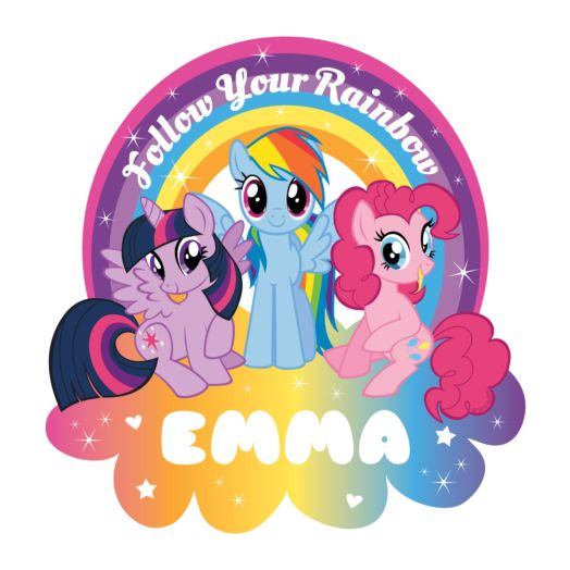 My Little Pony Follow Your Rainbow Easy-Move Canvas Decal