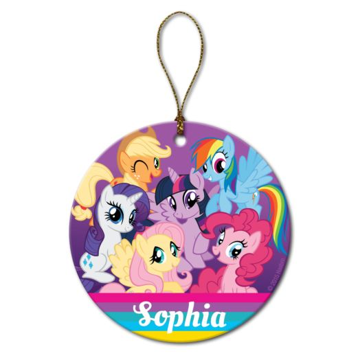 My Little Pony Friendship is Magic Round Ornament