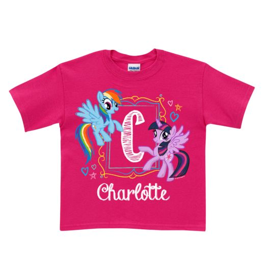 My Little Pony Initial Sketch Hot Pink T-Shirt