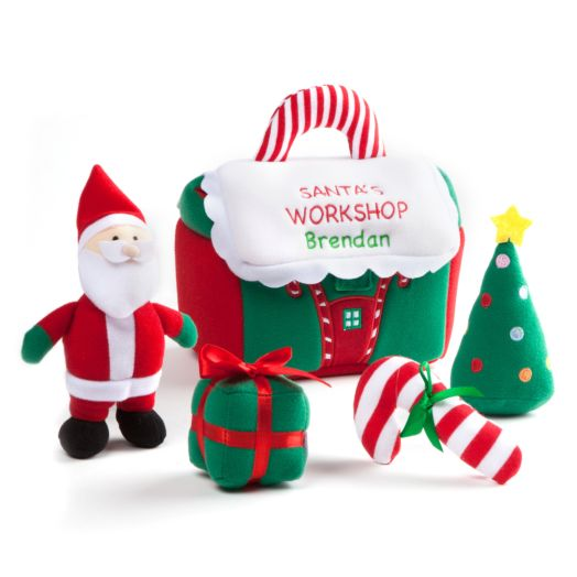 Personalized GUND Santa Workshop Activty Set