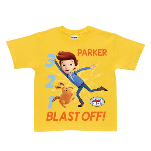 Ready Jet Go! Blast Off Yellow T-Shirt