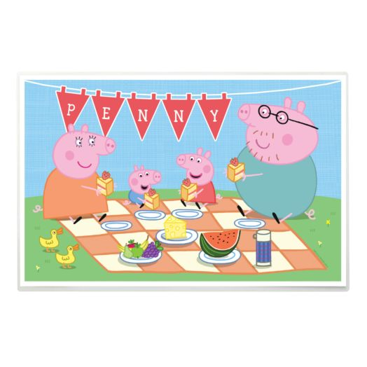 Peppa Pig Family Picnic Placemat
