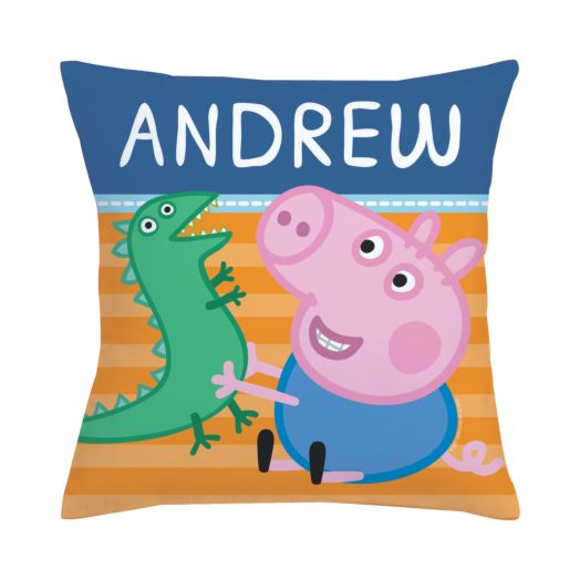 Peppa Pig George and Mr. Dinosaur Throw Pillow