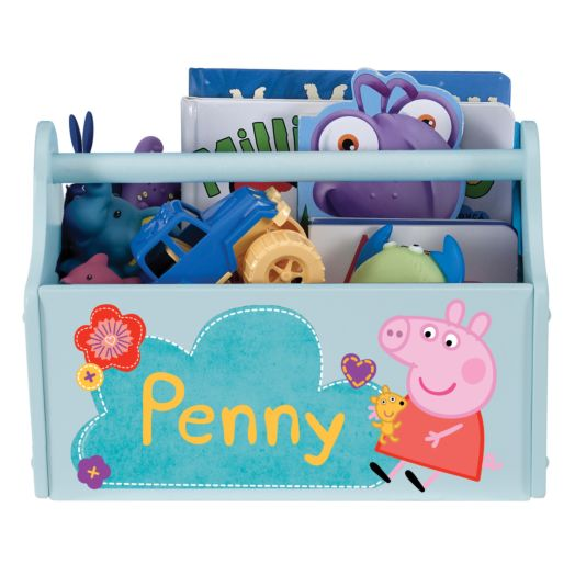 Peppa Pig Pretty Flowers Light Blue Toy Caddy