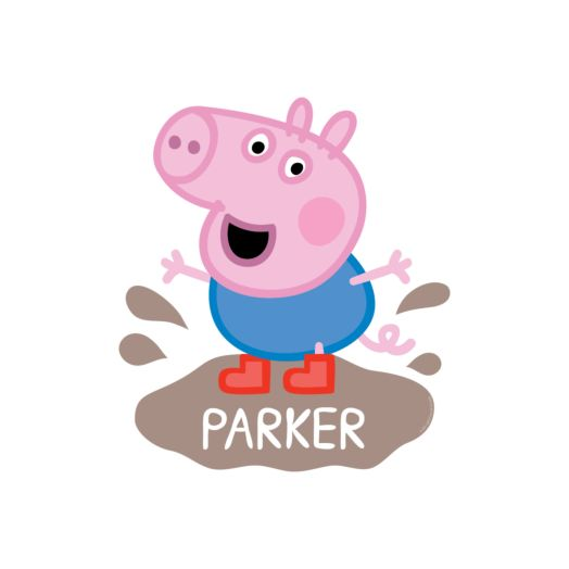 Peppa Pig George Mud Puddle Easy-Move Canvas Decal
