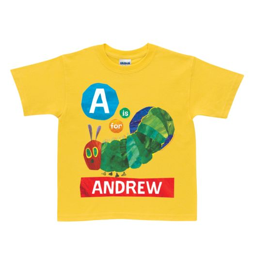 Very Hungry Caterpillar Alphabet Yellow T-Shirt