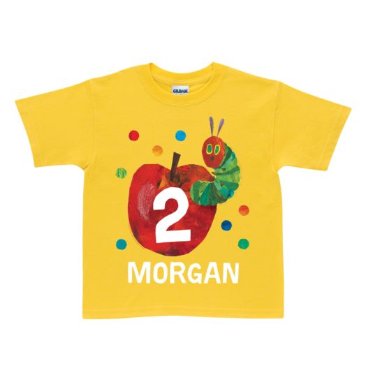 Very Hungry Caterpillar Birthday Yellow T-Shirt
