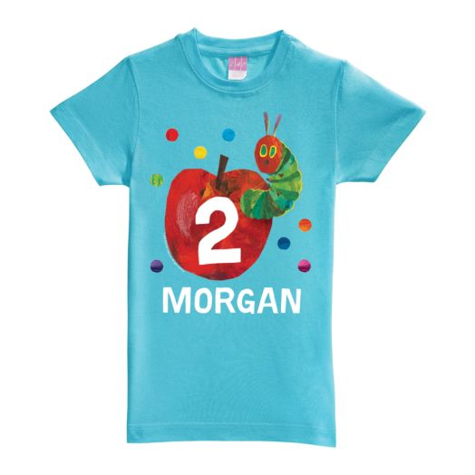 Very Hungry Caterpillar Birthday Aqua Fitted Tee