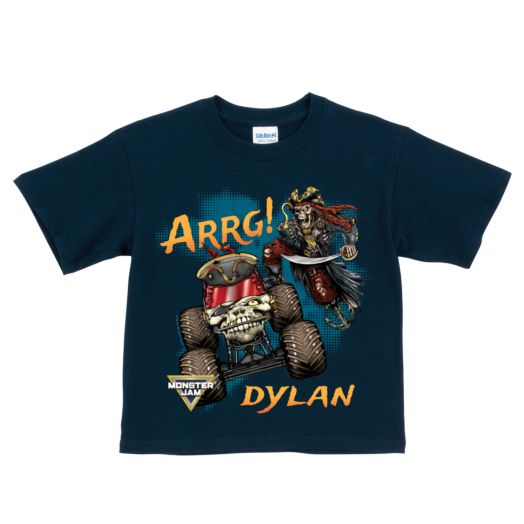 Monster Jam Pirate's Curse Navy T-Shirt
