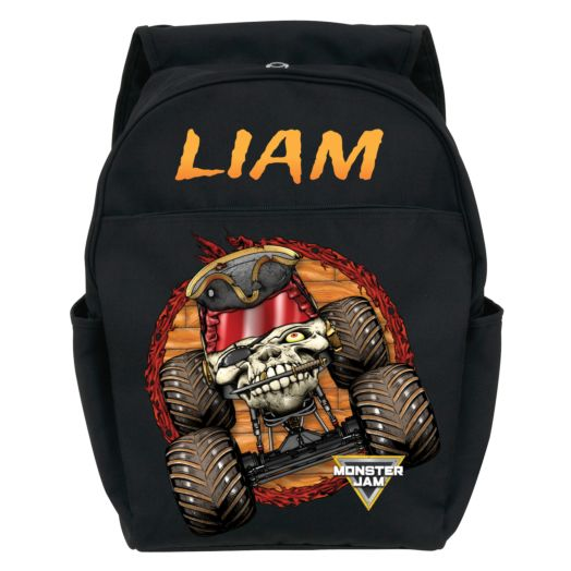Monster Jam Pirate's Curse Black Youth Backpack