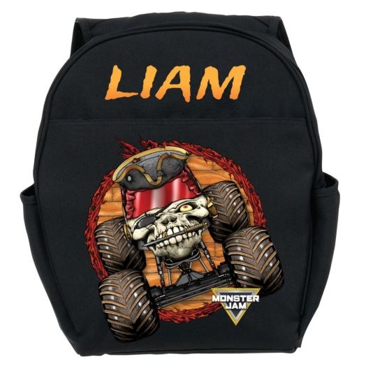 Monster Jam Pirate's Curse Black Toddler Backpack