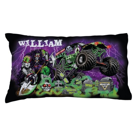 Monster Jam Grave Digger and Grim Graveyard Pillowcase