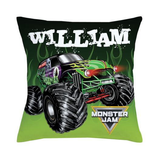 Monster Jam Grave Digger Throw Pillow