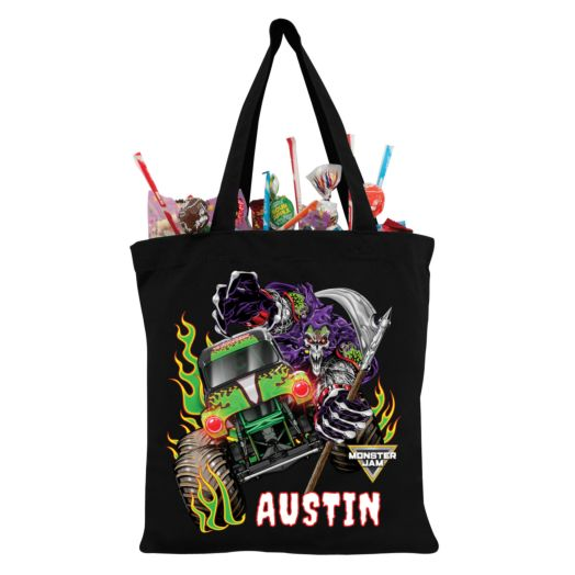 Monster Jam Grave Digger and Grim Black Trick-or-Treat Bag
