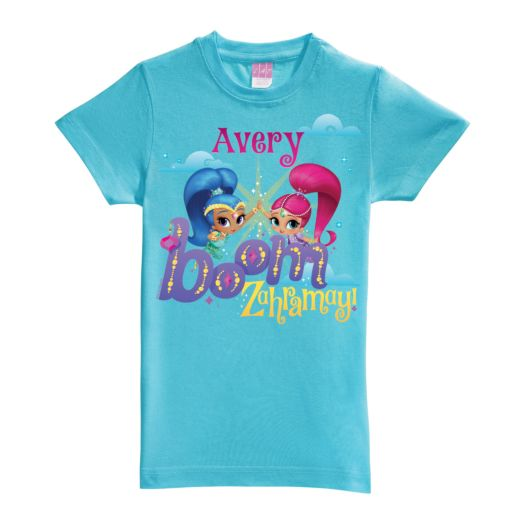 Shimmer and Shine Boom Zahramay Aqua Fitted Tee