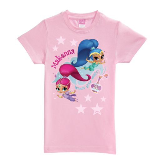 Shimmer and Shine Out of the Bottle Pink Fitted Tee