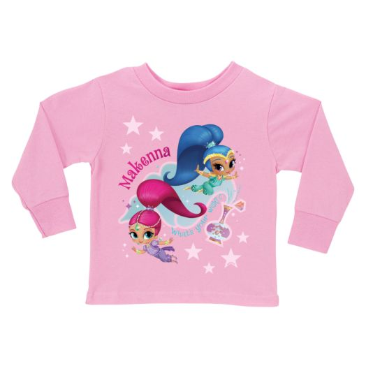 Shimmer and Shine Out of the Bottle Pink Long Sleeve Tee