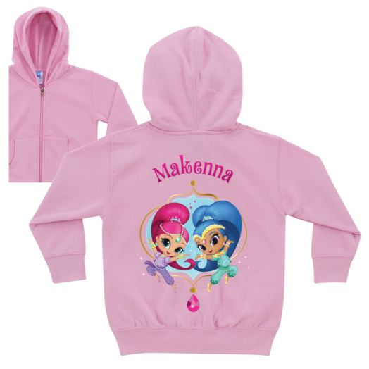 Shimmer and Shine Dazzling Duo Pink Zip-Up Hoodie
