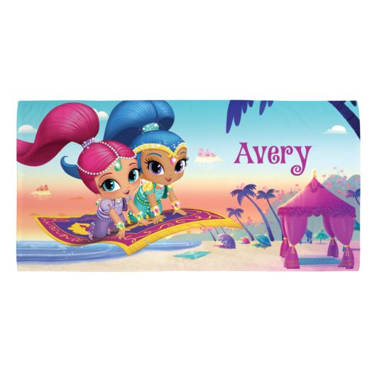 Shimmer and Shine Magic Carpet Beach Towel