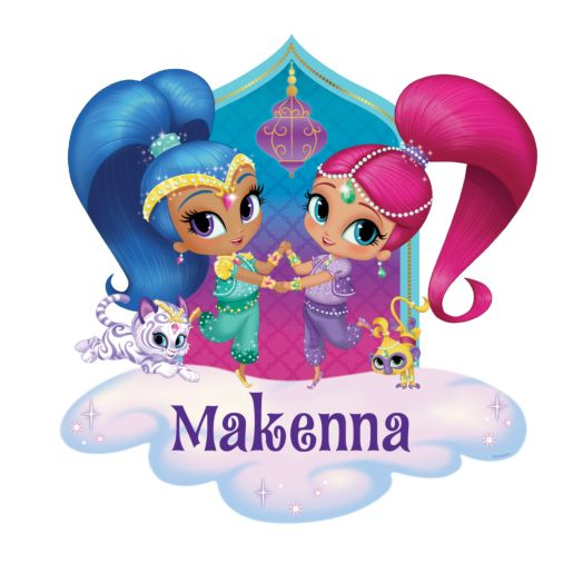 Shimmer and Shine Glitter Friends Easy-move Canvas Decal