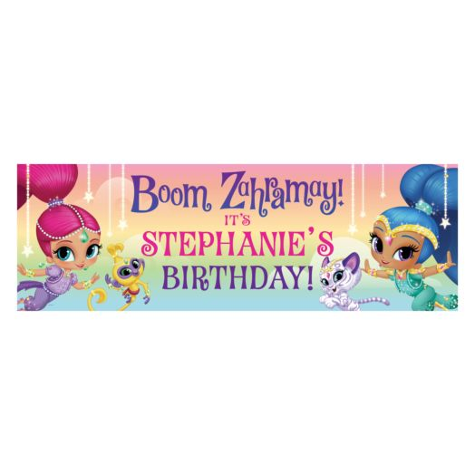 Shimmer and Shine Birthday Wish Banner