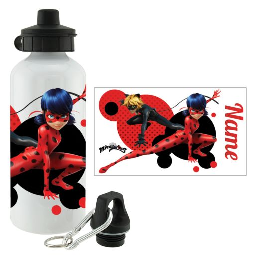 Personalized Miraculous Ladybug and Cat Noir Water Bottle