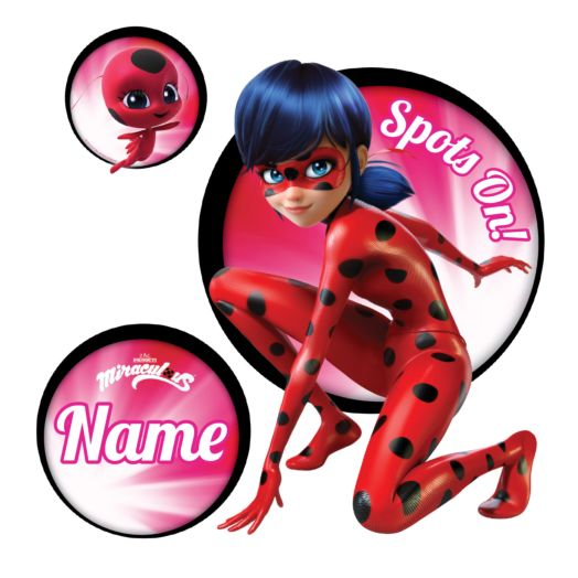 Personalized Miraculous Ladybug Spots On Easy-Move Canvas Decal