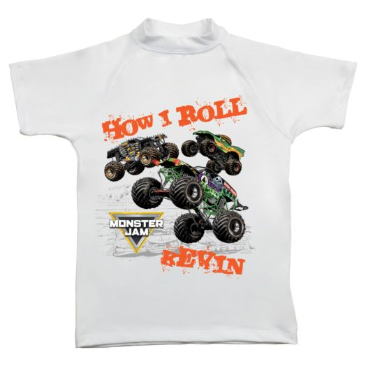 Monster Jam How I Roll UV Protective Swim Shirt
