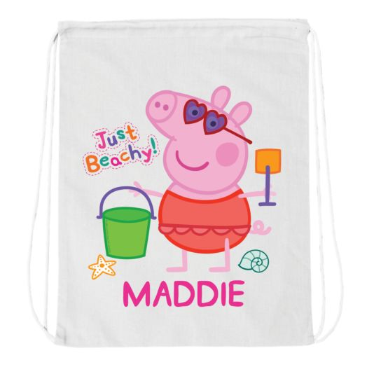 Peppa Pig Just Beachy White Drawstring Bag
