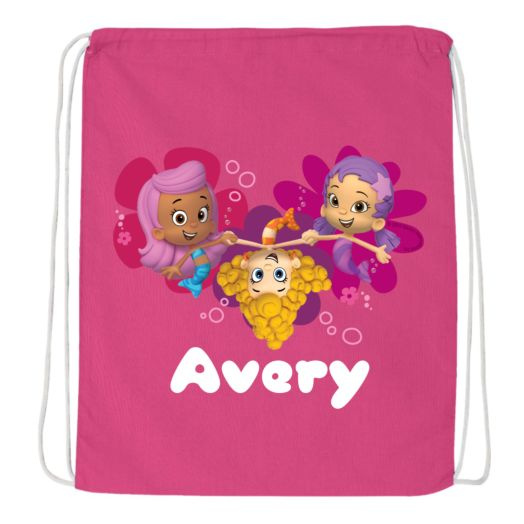 Bubble Guppies Guppy Girls Hot Pink Drawstring Bag
