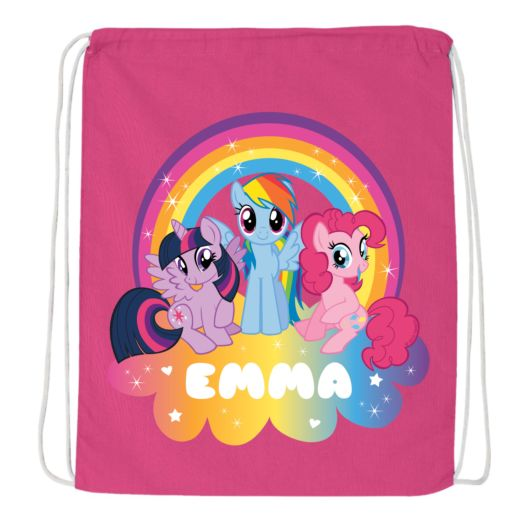My Little Pony Rainbow Magic Hot Pink Drawstring Bag