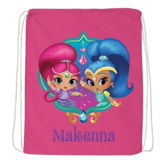 Shimmer and Shine Twinsies Hot Pink Drawstring Bag