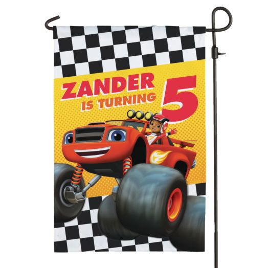 Blaze and the Monster Machines Birthday Flag