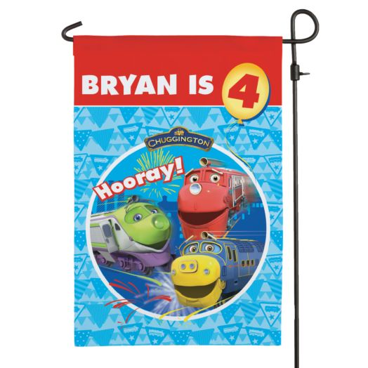 Chuggington Happy Birthday Flag
