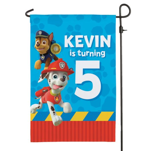 PAW Patrol Pawesome Birthday Flag