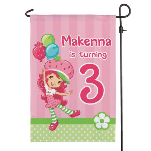 Strawberry Shortcake Birthday Balloons Flag