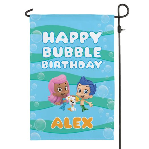 Bubble Guppies Birthday Flag