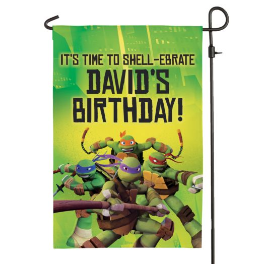 Teenage Mutant Ninja Turtles Birthday Flag