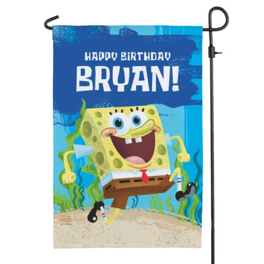 Spongebob SquarePants Birthday Flag