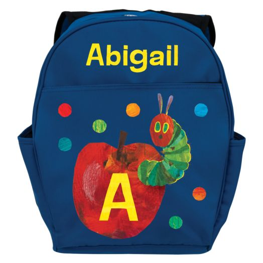 Very Hungry Caterpillar Initial Blue Youth Backpack