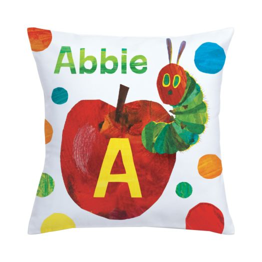 Very Hungry Caterpillar Initial Throw Pillow