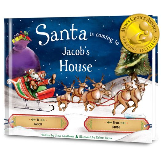 Santa is Coming to My House  Personalized Paperback Book