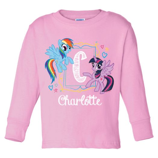 My Little Pony Initial Sketch Pink Long Sleeve Tee